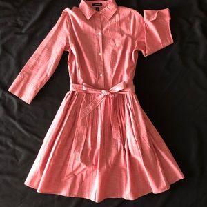 LANDSEND pink shirt dress pleated button down